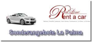 Mietwagen Sonderangebote von der Autovermietung Red Line Rent a Car La Palma